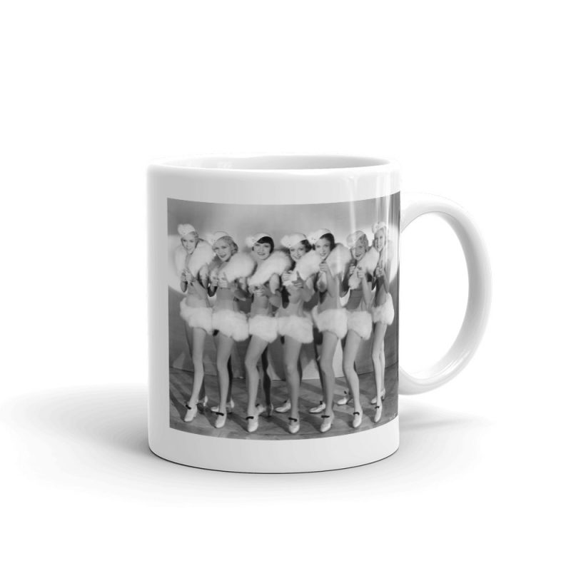 """If you love Hollywood pre-code musicals, you'll love our Chorus Girls """"42nd Street"""" Mug."""
