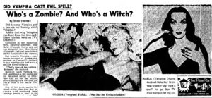Voluptua Vs Vampira in 1955 (Bizarre Los Angeles)
