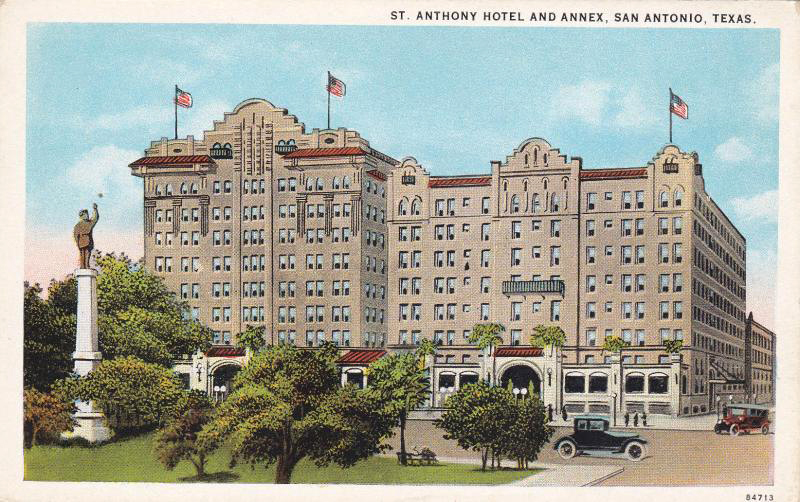 The St. Anthony Hotel in San Antonio, Texas. (Bizarre Los Angeles)
