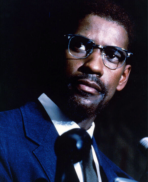 """I grew up with religion, and I never heard him [Washington's father' mention Malcolm X. I don't think I ever heard of Malcolm X until after I got out on my own."" -- Denzel Washington (Bizarre Los Angeles)"
