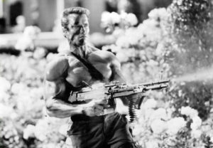Arnold Schwarzenegger in Commando (Bizarre Los Angeles)