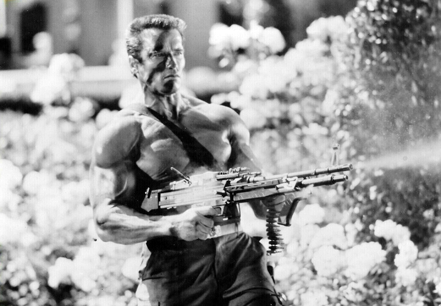 """My romance is with guns. I'm very much against women in action movies if they're just thrown in to get the female audience."" -- Arnold Schwarzenegger (Bizarre Los Angeles)"