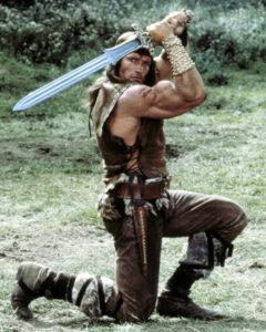 Arnold Schwarzenegger in Conan the Destroyer (Bizarre Los Angeles)