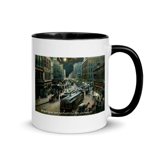 Early 1900s Los Angeles at Night Mug