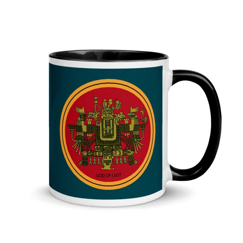 """Aztec Hotel """"God of Lust"""" Mug with Color Inside"""