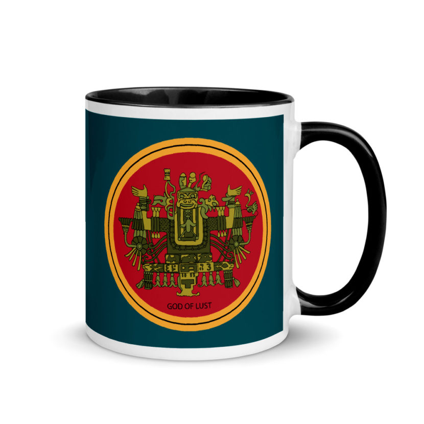 "Aztec Hotel ""God of Lust"" Mug with Color Inside"