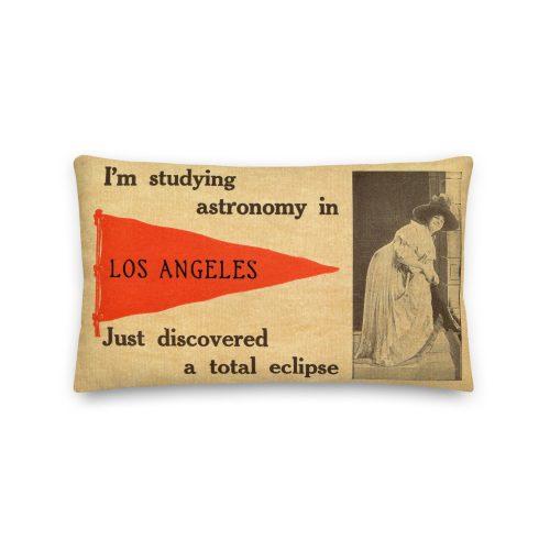 Bizarre Los Angeles Postcard Premium Pillow