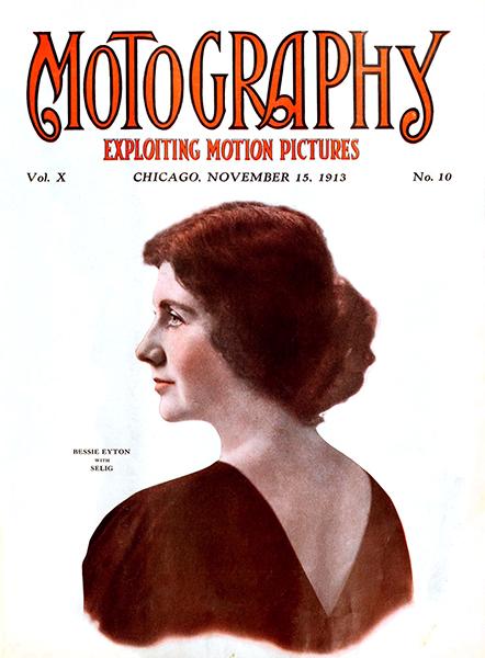 Bessie Eyeton Motography Magazine Cover from 1913 (Bizarre Los Angeles)